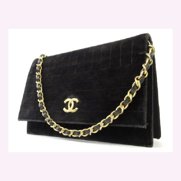7a3f3a1d63ca CHANEL Bags | Velour Wallet On Chain Flap 218160 | Poshmark